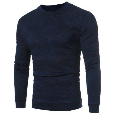 Male Popular Solid All-match Round Neck Sweater