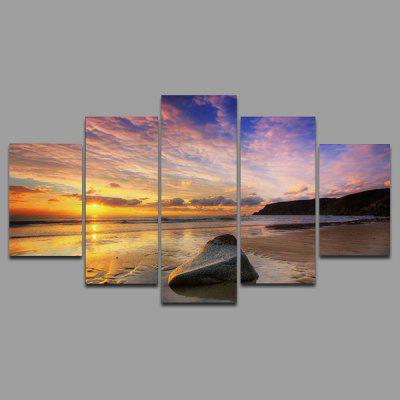 Buy COLORMIX YSDAFEN kn 221 5 Panels Sunset Picture Canvas Print for $55.37 in GearBest store