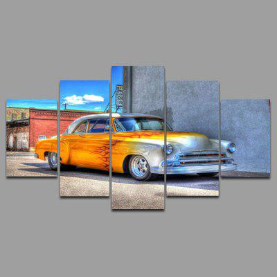 Buy COLORMIX YSDAFEN kn 220 5 Panels Vintage Car Picture Canvas Print for $55.37 in GearBest store