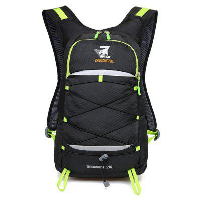 Buy Men Outdoor Water-resistant Nylon Sports Backpack BLACK AND GREEN Bags & Shoes > Men's Bags > Backpacks for $27.00 in GearBest store