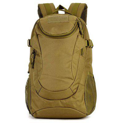 Buy BROWN Men Outdoor Solid Color Water-resistant Sports Backpack for $33.68 in GearBest store