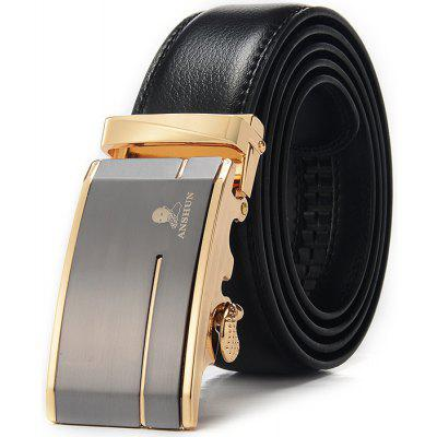 Men Western Style Alloy Buckle Trouser Belt