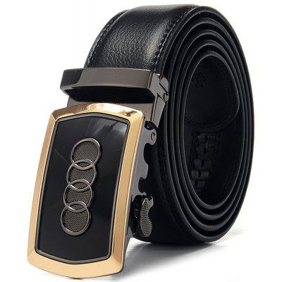 Men Business Alloy Pattern Buckle Trouser Belt