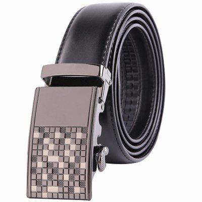 Men Leisure Business Leather Alloy Buckle Trouser Belt