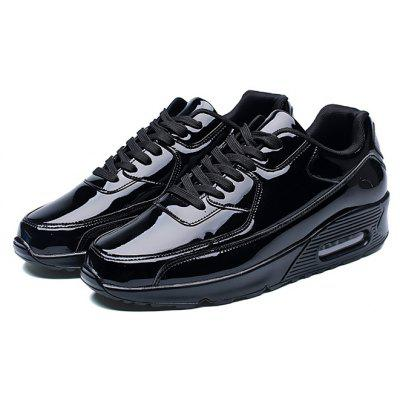 Male Air Cushion Glossy Soft Running Sneakers