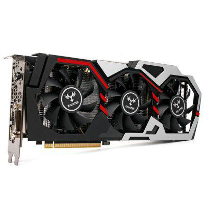 Original Colorful iGame1060 U - 3GD5 Top Graphics CardGraphics &amp; Video Cards<br>Original Colorful iGame1060 U - 3GD5 Top Graphics Card<br><br>Brand: Colorful<br>Chipset Manufacturer: NVIDIA<br>CUDA Cores: 1152<br>Engine Clock: 1506 - 1708MHz<br>Graphics Chipset: GeForce GTX 1060<br>I/O Interface: 1 x HDMI, 3 x DisplayPort, 1 x DVI<br>Interface Type: PCI-E 3.0<br>Maximum Resolution: 7680 x 4320<br>Memory Bus Width: 192bit<br>Model: iGame1060 U - 3GD5<br>Package size: 31.00 x 16.00 x 6.00 cm / 12.2 x 6.3 x 2.36 inches<br>Package weight: 1.3200 kg<br>Packing List: 1 x Original Colorful Top Graphics Card<br>PCI Express Type: PCI-E 3.0<br>Power: 120W<br>Power Interface: 6 + 6Pin<br>Power Supply Type: 3+1<br>Process Technology: 16nm<br>Product size: 28.00 x 12.00 x 4.30 cm / 11.02 x 4.72 x 1.69 inches<br>Product weight: 0.9000 kg<br>Radiator Type: Three Fans<br>Supports System: Windows 7, Ubuntu 16.04 64bit, Windows 10<br>Video Memory Capacity: 3GB<br>Video Memory Frequency: 8008MHz<br>Video Memory Type: GDDR5