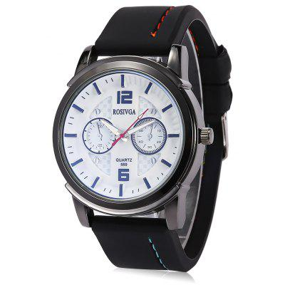 Rosivga Trendy Male Pin Buckle Quartz Watch