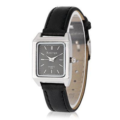 Rosivga Fashion Female Square Pin Buckle Watch