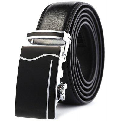 Men Genuine Leather Business Automatic Buckle Trouser Belt