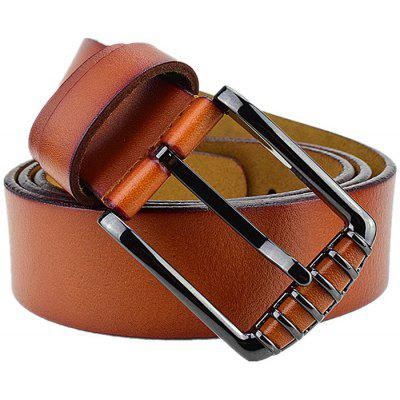 Men Leisure Smooth Pin Buckle Trouser Belt