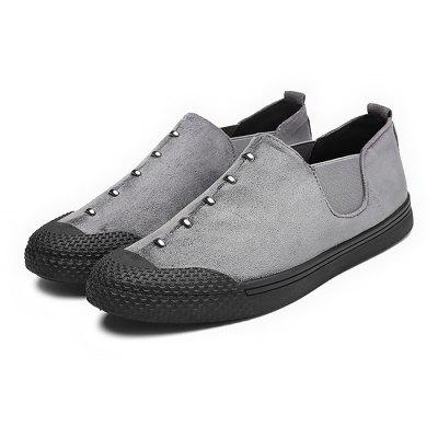 Buy GRAY 40 Male Soft Comfortable Slip On Casual Flat Shoes for $25.29 in GearBest store