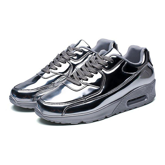 best place for sale Male Air Cushion Glossy Soft Running Sneakers for sale buy authentic online rwnxEmXYs
