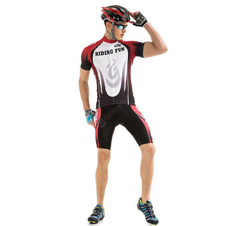 RIDING FUN Men Summer Short-sleeved Riding Clothes Suit
