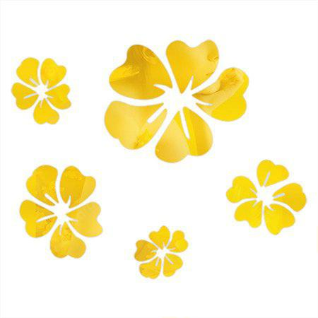 9227eae6c1d57d B028S Hibiscus Flower Type DIY Mirror Wall Stickers -  3.81 Free ...