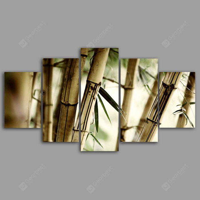 YSDAFEN kn - 180 5PCS Canvas Framed Bamboo Forest Prints