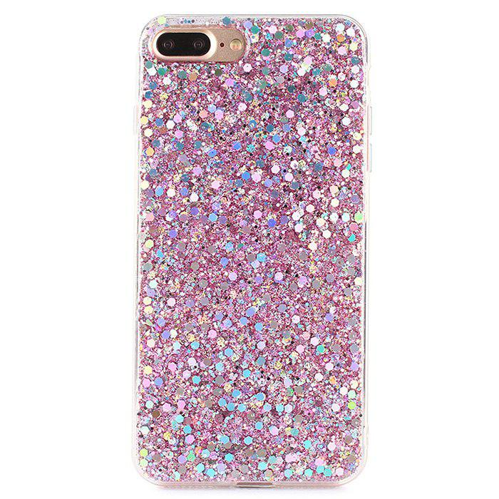 Cover Leggera in TPU con Polvere di Glitter per iPhone 7 Plus