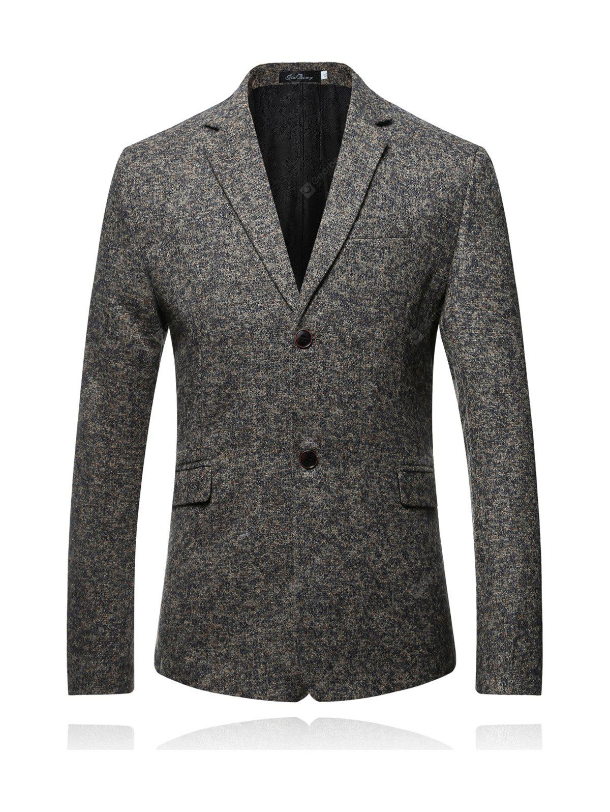 Male Solid Color Single-breasted Blazer