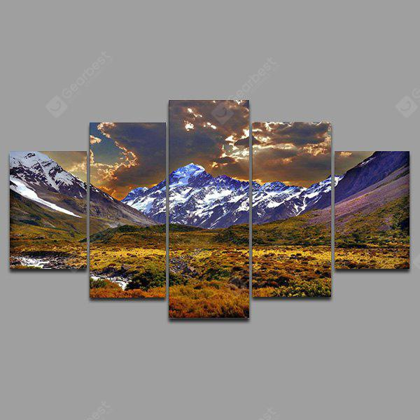 YSDAFEN kn - 216 5 Panels Mountains Picture Canvas Print