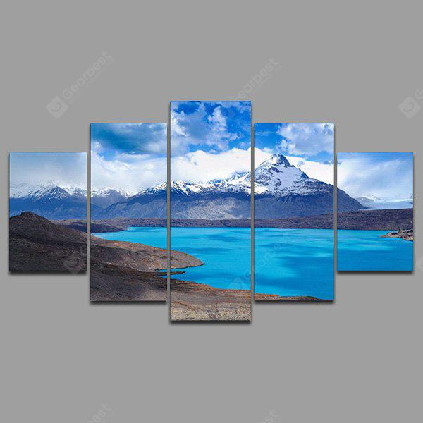 YSDAFEN kn - 222 5 Panels Lake Picture Canvas Print
