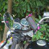 Motorcycle Rear Mirror Phone GPS Navigation Stand Holder - BLACK&RED
