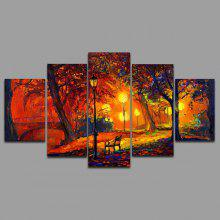 YSDAFEN kn - 317 5PCS Canvas Landscape Prints Wall Art