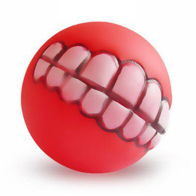 Teeth Pattern Chew Sound Balls Squeaky Training Toys