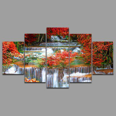 Buy COLORMIX YSDAFEN kn 309 5 Panels Scenery Picture Canvas Print for $55.37 in GearBest store