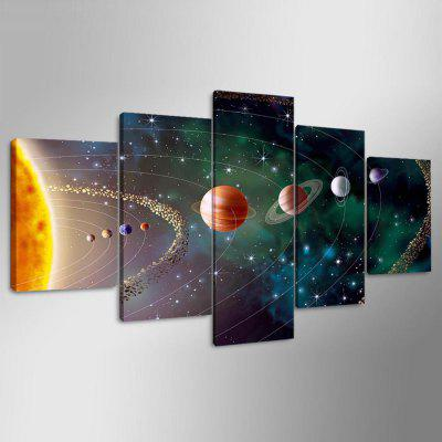 Buy COLORMIX YSDAFEN kn 91 5PCS Canvas Framed Starry Sky Prints for $55.37 in GearBest store