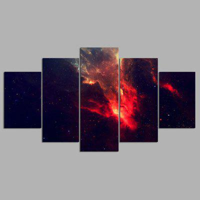 Buy COLORMIX YSDAFEN 5PCS Beautiful Starry Sky Canvas Print for $55.37 in GearBest store