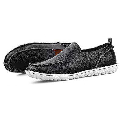 Male Stylish Soft Slip On Flat Casual Leather Shoes