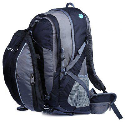 Suspended Breathable Nylon 40L Cycling Backpack with 10L Bag