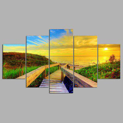 Buy COLORMIX YSDAFEN 5PCS Beautiful Sea Sunset View Canvas Print for $55.37 in GearBest store