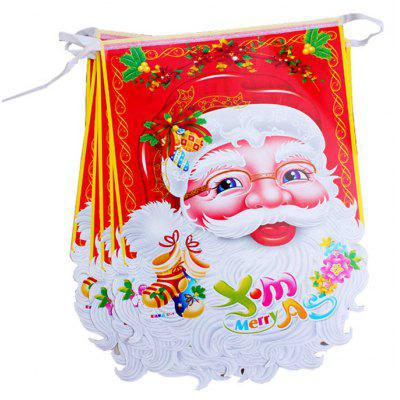 Buy COLORMIX MCYH 386 Christmas Santa Decorations Gift Hanging Flag for $7.59 in GearBest store