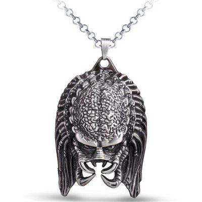 Buy SILVER Creative Zinc Alloy Warrior Mask Men Necklace for $5.21 in GearBest store