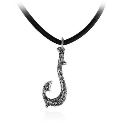 Stylish Zinc Alloy Fish Hook Pendant Necklace