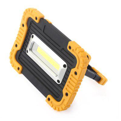 10W COB 850Lm 6000K LED Floodlight for Outdoor CampingOutdoor Lights<br>10W COB 850Lm 6000K LED Floodlight for Outdoor Camping<br><br>Color Temperature or Wavelength: 6000K<br>Connection Type: Hardwired<br>Features: Rechargeable<br>LED Quantity: 1 x COB<br>Lifetime ( h ): More Than  15000<br>Light Direction: Ambient Light<br>Package Contents: 1 x COB Floodlight, 1 x USB Cable<br>Package size (L x W x H): 18.20 x 13.60 x 5.10 cm / 7.17 x 5.35 x 2.01 inches<br>Package weight: 0.5240 kg<br>Power Supply: USB Port<br>Primary Application: Outdoor<br>Product size (L x W x H): 17.20 x 12.50 x 4.00 cm / 6.77 x 4.92 x 1.57 inches<br>Product weight: 0.4600 kg<br>Switch Type: Press<br>Type: LED Floodlight<br>Voltage: 12V DC<br>Wattage: 10W