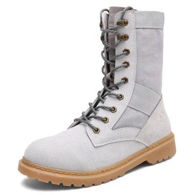Male Stylish High Top Martin BootsMens Boots<br>Male Stylish High Top Martin Boots<br><br>Closure Type: Lace-Up<br>Contents: 1 x Pair of Shoes<br>Materials: PU, TPR, Flannel<br>Occasion: Tea Party, Sports, Shopping, Holiday, Daily, Casual, Outdoor Clothing<br>Outsole Material: TPR<br>Package Size ( L x W x H ): 31.00 x 25.00 x 12.00 cm / 12.2 x 9.84 x 4.72 inches<br>Package Weights: 1.02kg<br>Pattern Type: Solid<br>Seasons: Autumn,Spring<br>Style: Leisure, Modern, Fashion, Comfortable, Casual<br>Toe Shape: Round Toe<br>Type: Boots<br>Upper Material: Flannel,PU