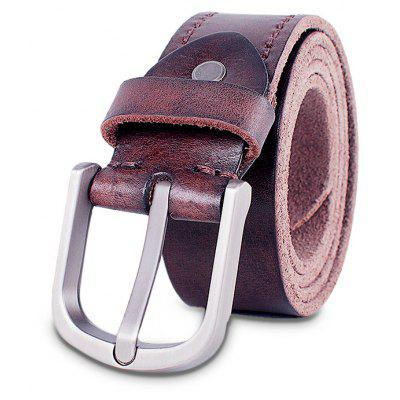Classic Genuine Leather Pin Buckle Leisure Waist Belt for Men