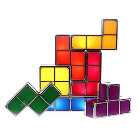 DIY Stackable Block Puzzle Tetris LED USB Table Night Lamp