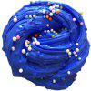 Stress Relief Jumbo Squishy Snow Fluffy Foam Toy with Beads - BLUE