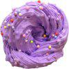 Stress Relief Jumbo Squishy Snow Fluffy Foam Toy with Beads - PURPLE