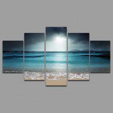 YSDAFEN TM - 001 5PCS Canvas Framed Seascape Prints