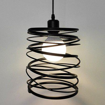 Simple Style Single Head Spring LED Pendant Light 220V