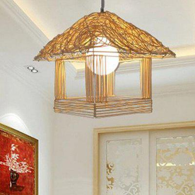 E27 Modern Creative House Shape Pendant Light 220V