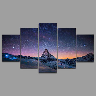 Buy AS THE PICTURE YSDAFEN kn 45 5PCS Canvas Unframed Starry Sky Prints for $55.37 in GearBest store