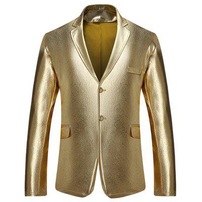 Masculino, Cor sólida, Single-breasted Nightclub Casual Blazer