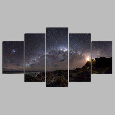 Buy COLORMIX YSDAFEN 5PCS Canvas Starry Sky Landscape Modern Print for $55.37 in GearBest store