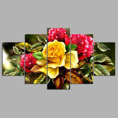 Buy COLORMIX YSDAFEN 5PCS Beautiful Flower Canvas Print for $55.37 in GearBest store