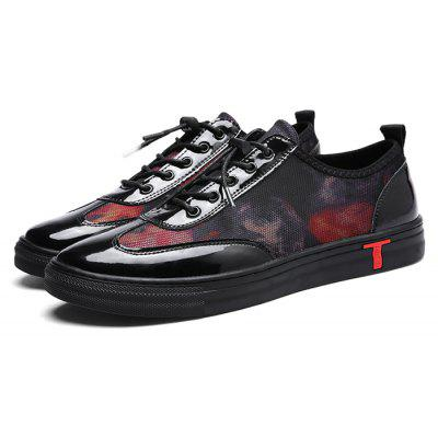 Masculino Trendy Light Printed Glossy Outdoor Casual Shoes