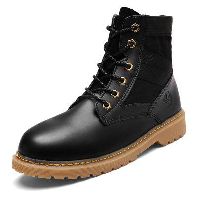 Male Solid Color Medium Top Outdoor Martin BootsMens Boots<br>Male Solid Color Medium Top Outdoor Martin Boots<br><br>Closure Type: Lace-Up<br>Contents: 1 x Pair of Shoes<br>Decoration: Split Joint<br>Materials: PU, TPR, Flannel<br>Occasion: Sports, Shopping, Holiday, Daily, Casual, Outdoor Clothing<br>Outsole Material: TPR<br>Package Size ( L x W x H ): 31.00 x 20.00 x 15.00 cm / 12.2 x 7.87 x 5.91 inches<br>Package Weights: 1.02kg<br>Pattern Type: Solid<br>Seasons: Autumn,Spring<br>Style: Modern, Leisure, Fashion, Comfortable, Casual<br>Toe Shape: Round Toe<br>Type: Boots<br>Upper Material: Flannel,PU